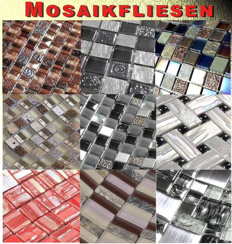 mosaikfliesen glasmosaik glas stein mosaik fliesenmosaik. Black Bedroom Furniture Sets. Home Design Ideas