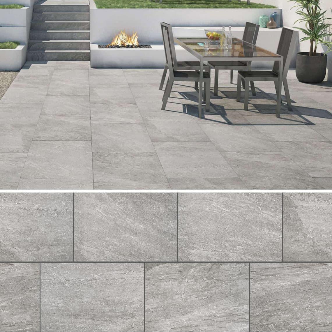 Terrassenplatte Rastone Grey 200x200x20 cm