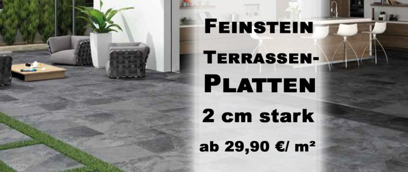 terrassenplatten terrassenfliesen aus feinsteinzeug 2cm g nstig kaufen. Black Bedroom Furniture Sets. Home Design Ideas