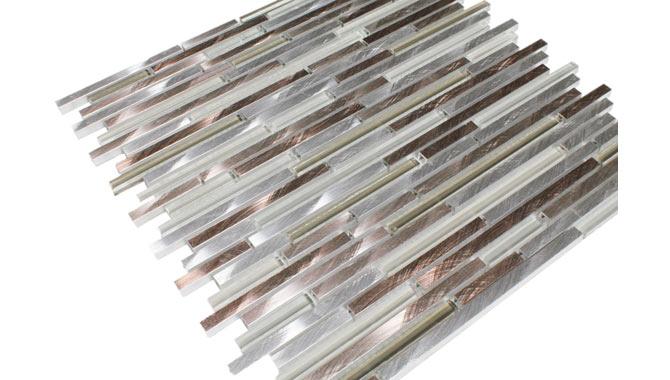 metall mosaik gnstig kaufen fliesen24com - Wandfliesen Stabchenmosaik